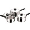 Zodiac Stainless Products 3-Piece Saucepan Set with Lids