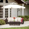 "Home Loft Concepts 9'11"" Baja Cantilevel Outdoor Canopy Umbrella with Base"