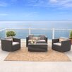 Home Loft Concepts Murano 4 Piece Deep Seating Group with Cushions