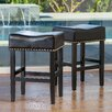 "Home Loft Concepts Lisette 26"" Bar Stool with Cushion (Set of 2)"