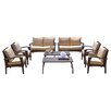 Home Loft Concepts Irving Outdoor Wicker 8 Piece Seating Group with Cushions