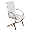 Home Loft Concepts Justin Leather and Chrome Arm Chair (Set of 2)