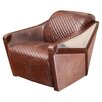 Home Loft Concepts Moore Leather and Metal Club Chair