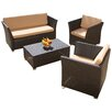 Home Loft Concepts Niguel 4 Piece Seating Group with Cushion
