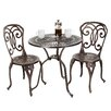 Home Loft Concepts Stella 3 Piece Cast Aluminum Outdoor Bistro Set