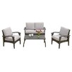 Home Loft Concepts Tullip 4 Piece Deep Seating Group with Cushions
