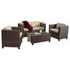 Home Loft Concepts Puerta 4 Piece Seating Group with Cushions