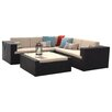 Home Loft Concepts Ventura 4 Piece Lounge Seating Group with Cushions