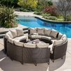 Home Loft Concepts Avalon Wicker 10 Piece Lounge Seating Group with Cushions