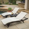 Home Loft Concepts Rio Vista 3 Piece Chaise Lounge Set with Cushion
