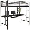 Home Loft Concepts Twin Workstation Loft Bed with Desk