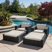 Home Loft Concepts Ventura 4 Piece Seating Group with Cushions
