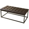 Home Loft Concepts Jefferson Leather Ottoman