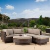 Home Loft Concepts Malakia 6 Piece Deep Seating Group with Cushions