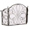 Home Loft Concepts Oxford 3 Panel Iron Fireplace Screen