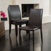 Home Loft Concepts Lilian Leather Dining Chair Set (Set of 4)