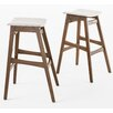 "Home Loft Concepts Jourdan 30"" Bar Stool (Set of 2)"