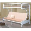 Hazelwood Home C-Frame Twin over Full Futon Bunk Bed