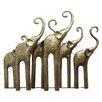Hazelwood Home Elephants Sculpture Wall Décor