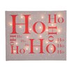 Illuminated Canvas Ho Ho Ho Typography on Canvas in Brown