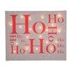 Illuminated Canvas Leinwandbild Ho Ho Ho, typografische Kunst in Braun