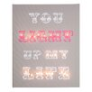 Illuminated Canvas You Light Up My Life Typography on Canvas