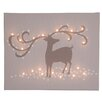 Illuminated Canvas Leinwandbild Reindeer, Grafikdruck in Braun