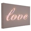 Illuminated Canvas Leinwandbild Love Italic, Typografische Kunst