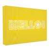 Illuminated Canvas Hello Typography on Canvas