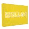 Illuminated Canvas Leinwandbild Hello, Typografische Kunst