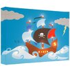 Illuminated Canvas Leinwandbild Pirate Ship, Grafikdruck