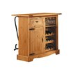 Henke Collection Mexican Bar Cabinet with Wine Rack
