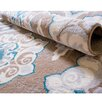 Andover Mills Natural Taupe & Teal Area Rug