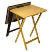 Andover Mills Ivana Folding TV Tray Table Set (Set of 2)