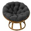 "Andover Mills Deborah 42"" Rattan Papasan Chair with Microsuede Cushion"