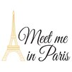 Andover Mills Meet Me in Paris Quote Wall Decal
