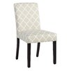 Andover Mills Parish Side Chair in Soft Gray Lattice