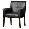 Andover Mills Greenwood Leather Lounge Chair with Mahogany Legs