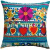 Koko Company Mexico Hearts Print Cotton Throw Pillow