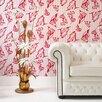 """Graham & Brown Barbara Hulanicki Flock 33' x 20.5"""" Abstract Flocked Wallpaper"""