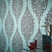 "Graham & Brown Luna 33' x 20"" Damask Embossed Wallpaper"