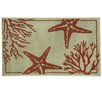 Bacova Guild Reliance Coral Starfish Area Rug