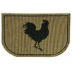 Bacova Guild Reliance Rooster Burlap Area Rug