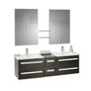 Caracella Madrid Wall Mounted Double Bassin Vanity Unit with Mirrors, Taps and Storage Cabinets
