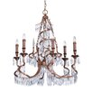 Savoy House Twisted 6 Light Crystal Chandelier