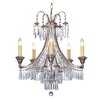 Savoy House Pyramid 5 Light Crystal Chandelier