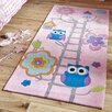 Caracella Hong Kong Hand-Tufted Kid's Area Rug in Pink