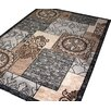 Bel Étage Zeta Retro Anthracite Indoor Area Rug
