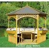 dCor design 326 cm Pavillon Palma mit Holzdach und Dachpappe