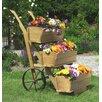 dCor design 3 teilige Blumenkarre mit Blumenkästen-Set